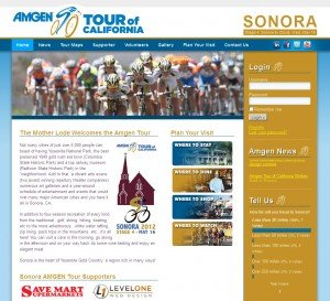AMGEN Tour of California - Sonora Web Design and Development